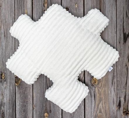 Poduszka dekoracyjna dla dzieci w kolorze ecru