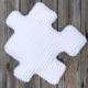 Poduszka dekoracyjna minky puzzle biała