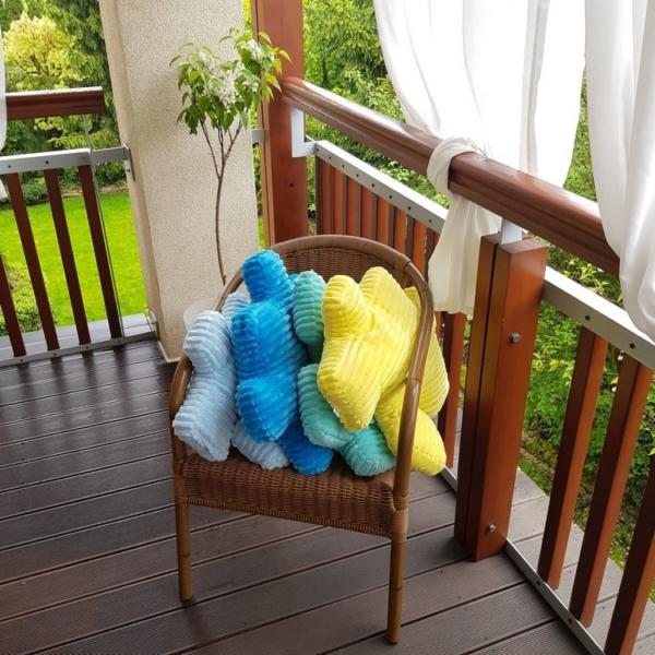 Zestaw poduszek minky puzzle Nice Time z żółtą