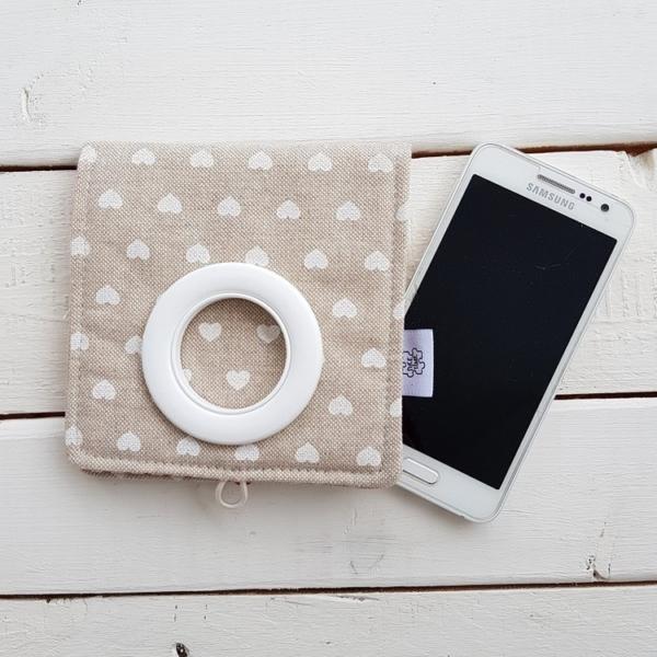 Cool kieszonka do ładowania telefonu ręcznie szyta
