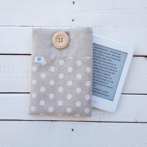 Szpanerska okładka na czytnik e-booków Białe grochy E-bookszpan
