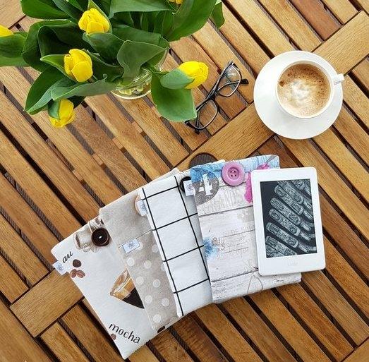 Etui na czytnik z materiału- gama wzorów dla kobiet - Nice Time
