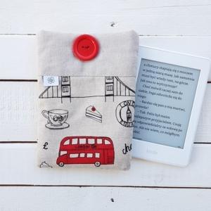 Okładka na czytnik e-booków z materiału Londyn