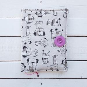 Szpanerska okładka na książkę bookszpan Rysunkowe psy