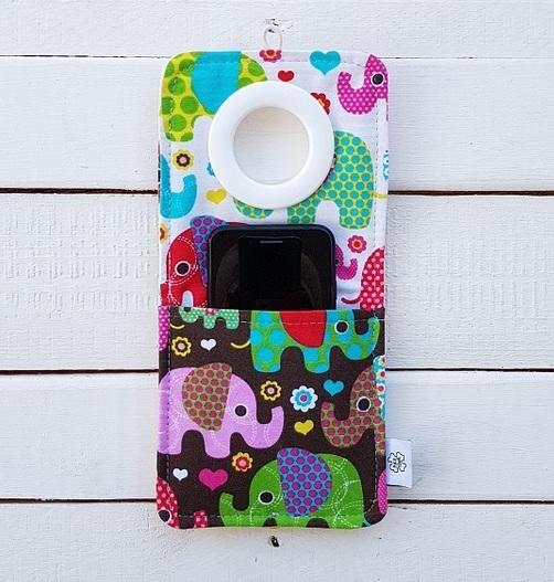 Cool kieszonka do ładowania telefonu Słoniki kolorowe