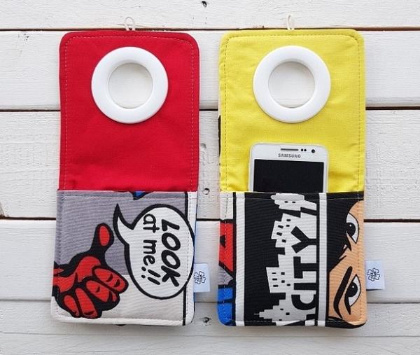 Cool kieszonki do ładowania telefonów różne wzory Komiks