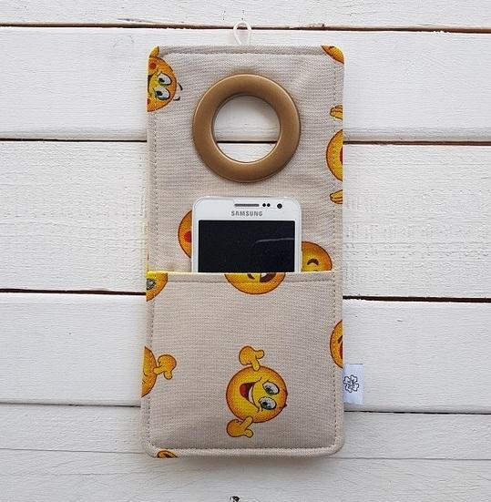 Cool kieszonka z materiału na telefon Coolphone Emotikony