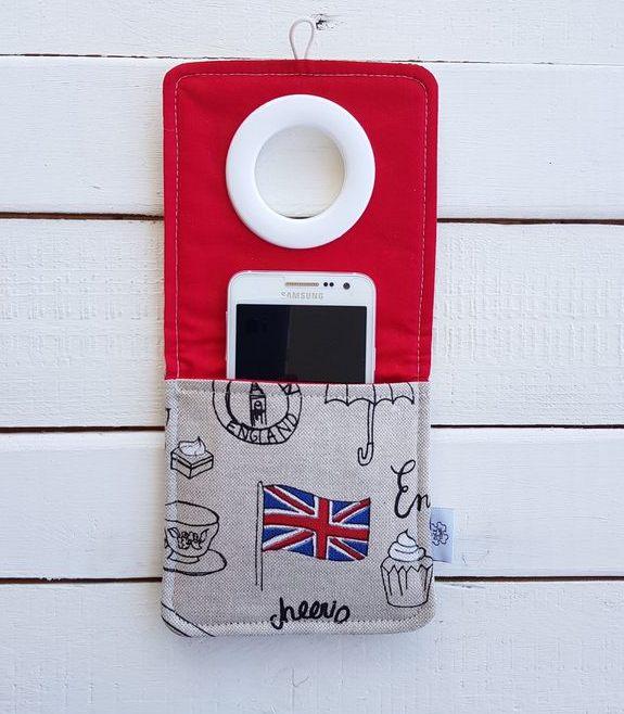 Coolphone etui do ładowania smartfona ręcznie szyte z motywem Londynu - Nice Time