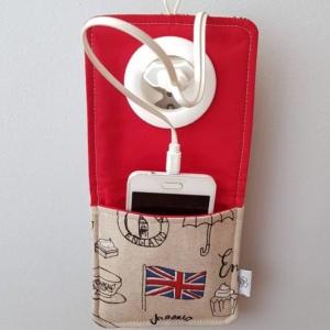 Ręcznie szyta kieszonka do ładowania smartfonów Nice Time