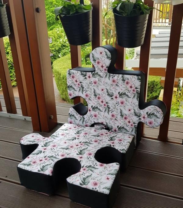 Fotel z poduchopuzzli wodoodpornych Nice Time