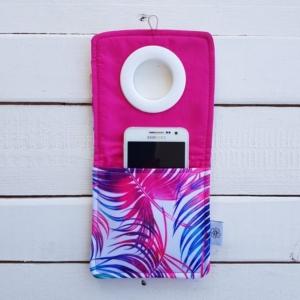 Wodoodporne etui do ładowania smartfona z różowym środkiem Nice Time