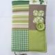 Zielona okładka na ksiązkę handmade