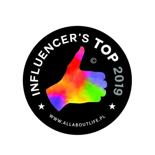 Nagroda w Plebiscycie Influencers Top 2019 portalu AllAboutLife