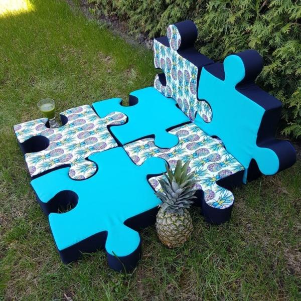 Mata puzzle wodoodporna Nice Time wzór ananasy