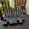 Zestaw poduchopuzzli z weluru Zebra Nice Time