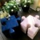 Pufy dziecięce w kształcie puzzla Pufopuzzle Nice Time
