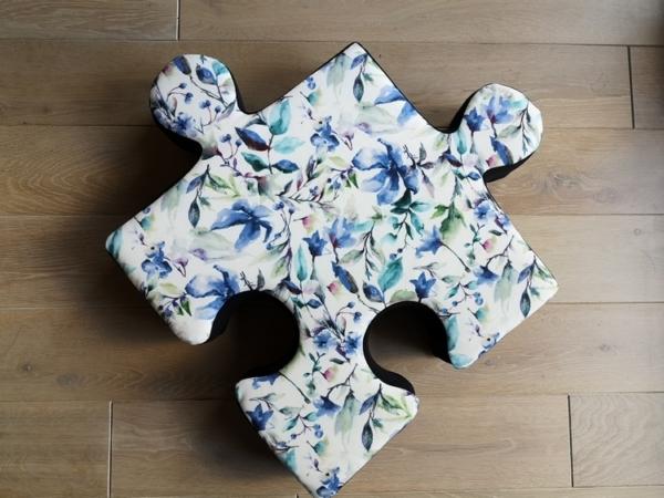 Poduchopuzzle w kwiaty niebieskie Nice Time