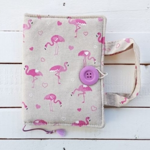 okładka hand made na ksiązkę Flamingi Nice Time