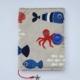 Okładka na ksiązkę dla dzieci z rybkami