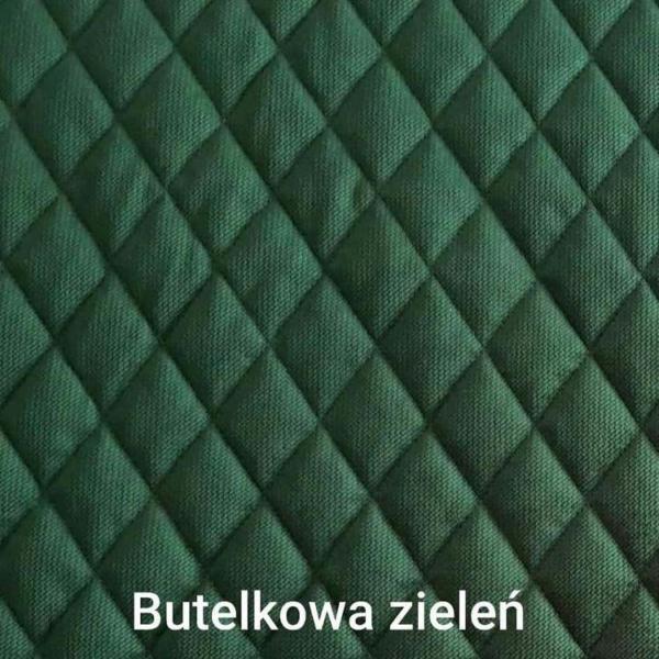 Poduchopuzzle pikowany velvet romby butelkowa zieleń Nice Time