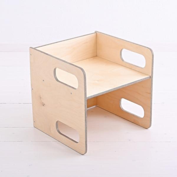 Krzesełko cube dla dziecka ze sklejki brzozowej